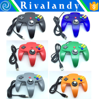 usb joystick for laptop game game controller compatible for n64 white/black color for n64 joypad game controller