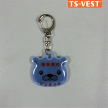 Gifts crafts cute light plastic rubber silicone double sides shaped keyring