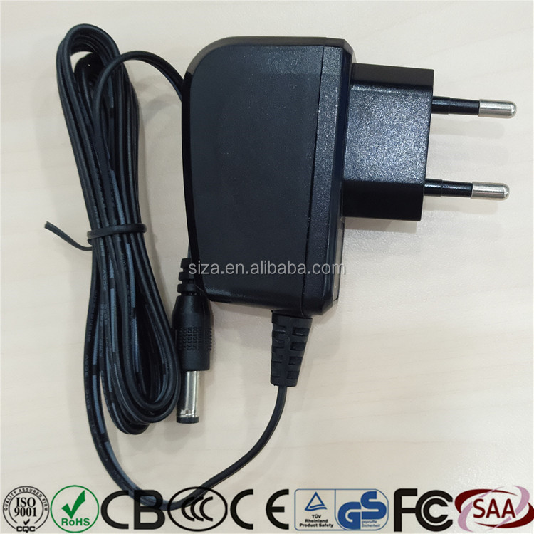 EU UK US 6v1a switching power supply adapter ac dc usb with CE from ISO factory