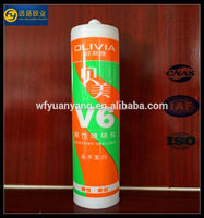 Nail-free rtv silicone adhesive for marble stone