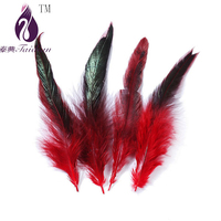 red rooster chicken feather for jewelry DIY/party/New Year decoration