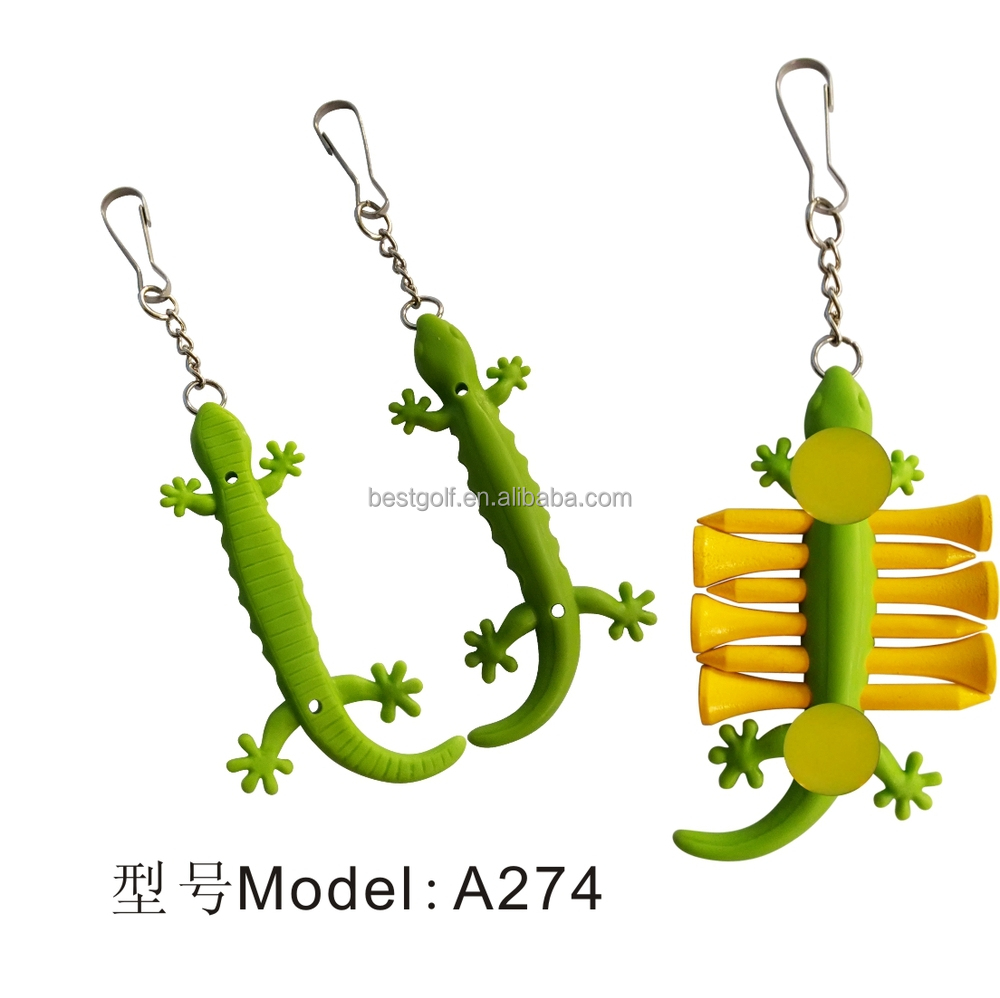 Cute Gecko Golf Tee Holder High Quality Golf Tee Holder Golf Tee Sets A274