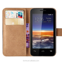 Wallet Flip Pu Leather Case Cover For Vodafone Smart 4 Mini