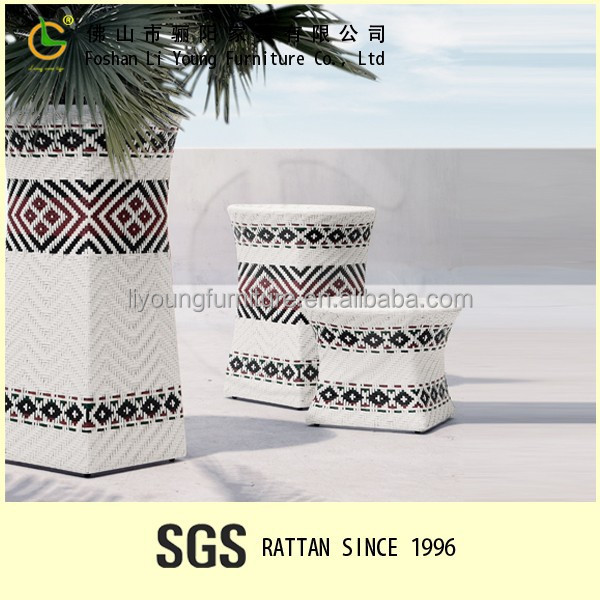 Outdoor Garden plant pot decoration LG76-MD9602/Rattan furniture factory