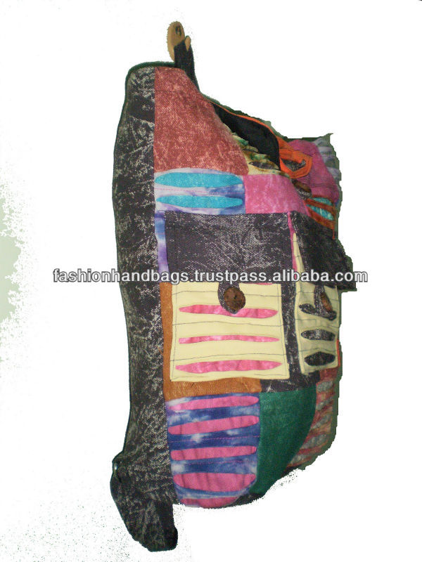 New Design Ethnic Fashion Patchwork Canvas backpack bag