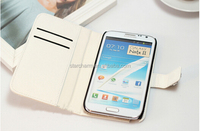 Cheap Wallet PU Leather Cell Mobile Phone Case for Samsung Galaxy Note2 Case