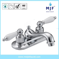CUPC UPC CSA Ceramic Two Handle Lavatory Faucet CP/BN/ORB Finishing (4101-0241)