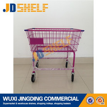 high quality metal laundry cart with wheels