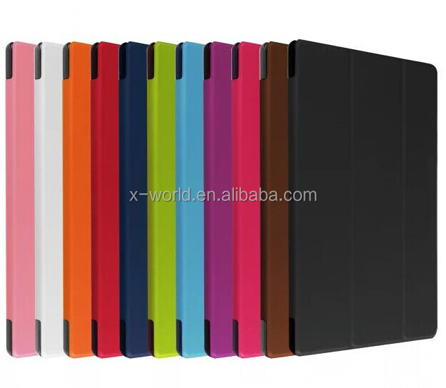 In store colorful handheld card slots fashion faux leather cover for Huawei M2 8 inch