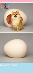 egg-shaped bed thats made for pets comfort