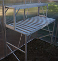 galvanized metal tiered stands