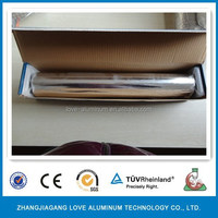Disposable Roll Type And Soft Temper Aluminum Foil Rolls Packed Corrugated Box With Plastic Holder Corrugated Aluminum Foil