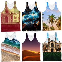 Custom mens stringer tank top bodybuilding sublimation gym tank top