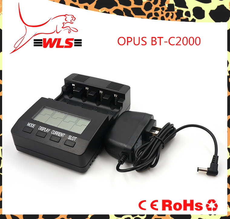 Opus BT-C2000-charger-set AC 100-240V Battery Charger Tester Analyzer NiMH NiCd AA AAA C D Cells