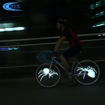 416 Colorful Bike bicycle Wheel Light 416 LED Cycling Wheel Spoke Light Waterproof Light