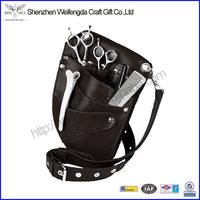 Brown Genuine Leather Holster for Professional hair scissor Barbers & Salons