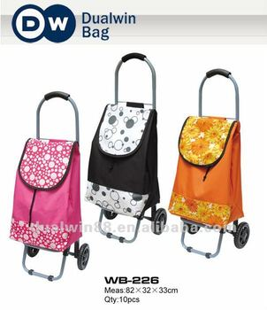 2012 Folding Shopping Trolley Bag Shopping Cart Trolley Bag Factory Directly Selling