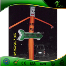 Custom Inflatable Direction Sign / Advertising Mini Inflatable Desktop Air Dancer Car Wash Inflatable Sky Dancer Blower