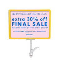 plastic double sided display poster frame with thumb clip