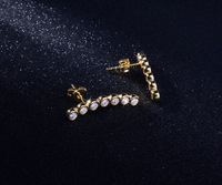 fashion accessories jewellery custom design gold plated crystal stud earring