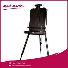 Mont Marte Fully Assembled Easel,Wooden - stained Black Art Easel,Folds Down For Easy Storage Wooden Easel