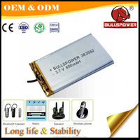 Ultra thin Lipo battery pack li-ion 3.7v 800mah cell li polymer Lithium battery