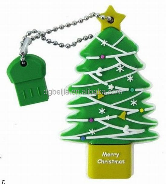Factory cheapest price custom christmas usb, tree usb mini flash drives cover bulk cheap for promotional