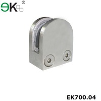 inox panel fence post clamp for frameless glass railing