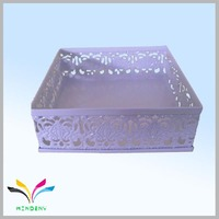 Purple colorful squire metal office file storage box in china