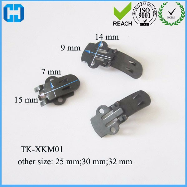 Black Large Stainless Steel Flat Blank Shoe Clips Shoes Buckles