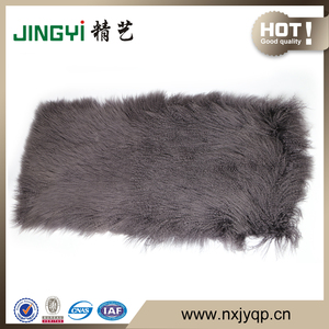 Wholesale Long Hair Curly Fur Mongolian Sheepskin Plate