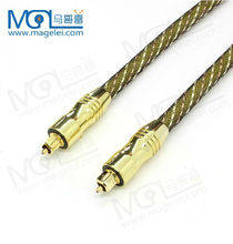 transparent gold-plated Digital Audio Fiber Optic Cable male to male AV cable
