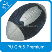 PU Sport Rugby Stress Ball Toy Mini Power Spiral Football Stress Ball Squeezable Sports Ball Football