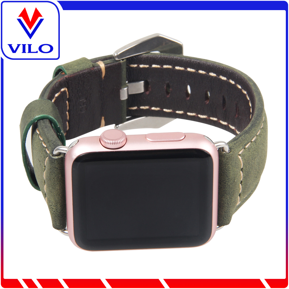 2017 Fashion and Hot Selling Italian Style Thick Genuine Leather Watch Band Replacement for <strong>Apple</strong>
