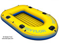 Yellow inflatable wide boat