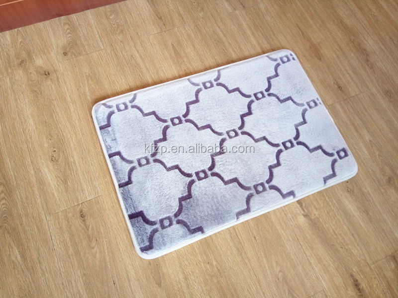 Speed dry memory foam bath mat/rug/carpet