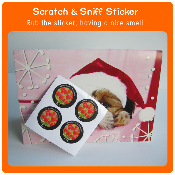 Best selling product promotional Smell flower aroma paper sticker for kids