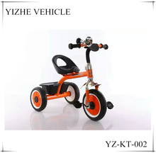 Children tricycle rubber wheels made in china plastic baby tricycle/child