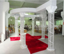 hot sale customized white fiber indian wedding mandap decoration with good quanlity