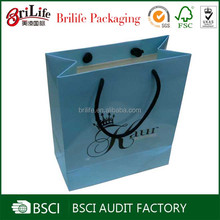 Customized gift paper bag with cotton handles manufacturer
