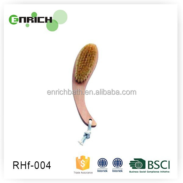 2015 fashion Wooden sponge brush for body polishing brush