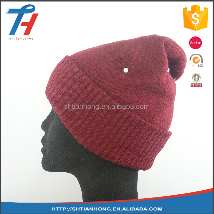 knitted fashion ladies polar fleece winter hat