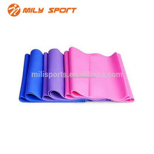 MILY 2017 hot sales gym exercise Natural Latex resistance bands for fitness