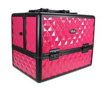 Professional Aluminum Hard Cosmetic Train Travel Case w/ 3 Tier Side Extendable
