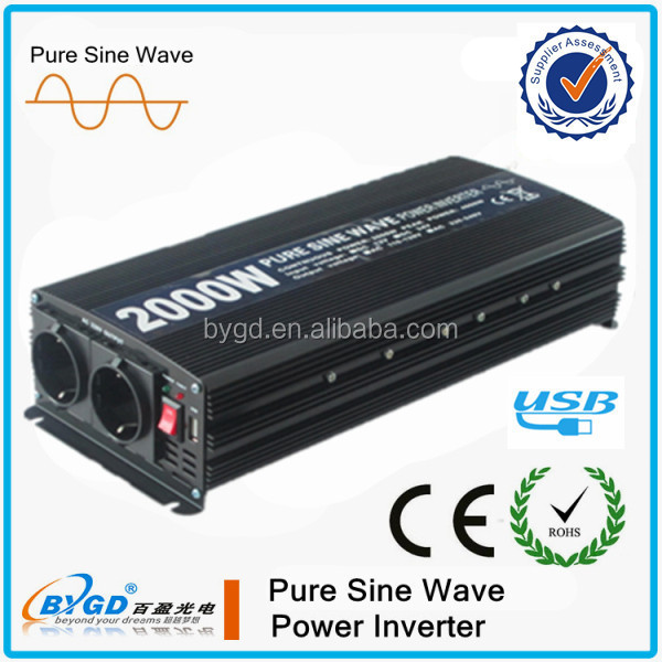 dc to ac industrial power inverters 2000watt 12v 220v pure sine