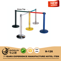 Retractable airport queue pole,stable Crowd control post H-126