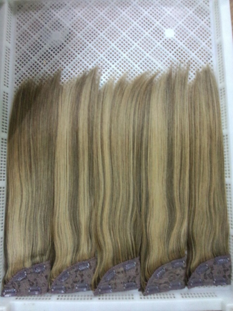 Good Feedback Full And Thick Straight clip in Hair Wholesale Russian Human Hair Extensions