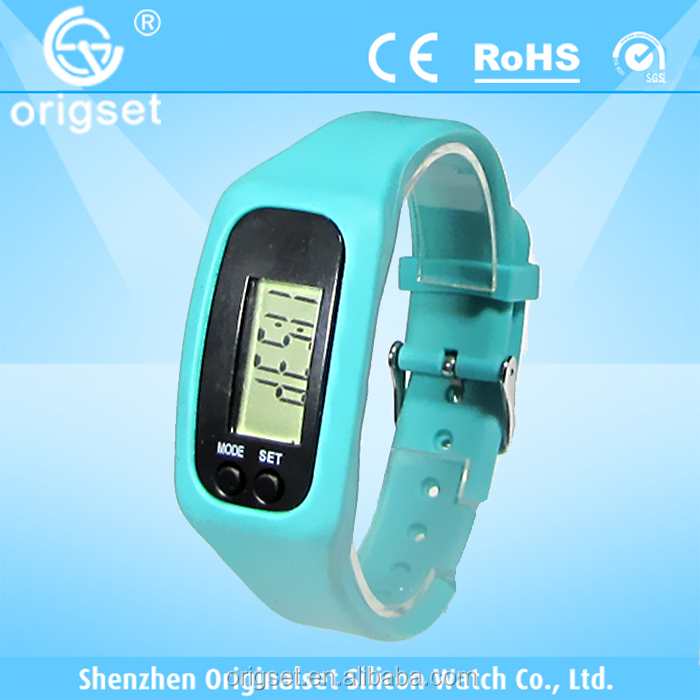 New digital watch silicone wristband pedometer
