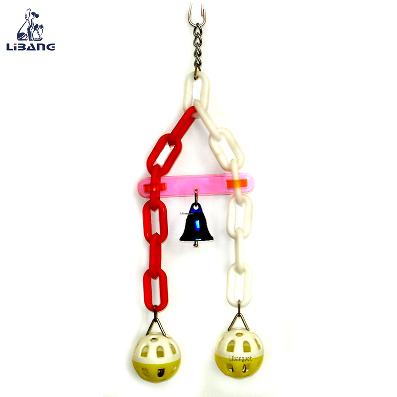 Eco-friendly Balancing Plastic Chains Bird Bells Toy