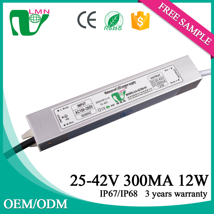 300mA 12W Alibaba wholesale IP67 Waterproof constant current led driver with CE ROHS